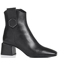 Черные ботильоны Bruno Premi с квадратным носком, фото