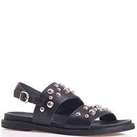 Черные сандалии Tosca Blu с декором-заклепками, фото