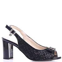 Босоножки на толстом каблуке Ilasio Renzoni черного цвета, фото