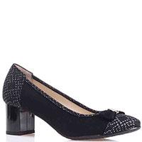 Замшевые туфли Ilasio Renzoni черного цвета, фото