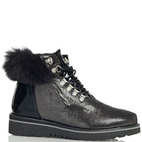 Черные ботинки Lab Milano с серебристым напылением, фото