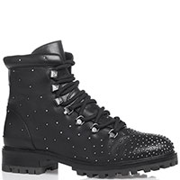 Черные ботинки Bruno Premi с декором заклепками, фото