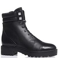 Черные ботинки Bruno Premi на шнуровке и молнии, фото