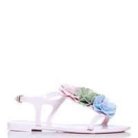 Розовые сандалии Menghi с крупными цветами, фото