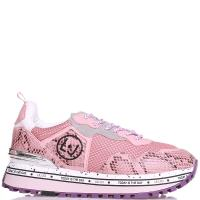 Розовые кроссовки Liu Jo с принтом под рептилю, фото