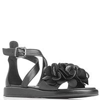 Женские сандалии Fru.It с черными цветами, фото