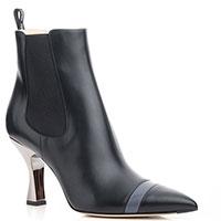 Черные челси Fendi с острым носком, фото