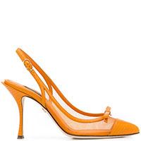 Туфли-слингбэки Dolce&Gabbana оранжевого цвета, фото