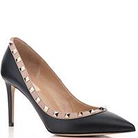 Черные туфли Valentino с бежевым кантом, фото