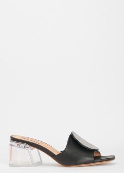 Мюли из кожи Helena Soretti на прозрачном каблуке, фото