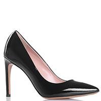 Черные туфли-лодочки Vittorio Virgili из лаковой кожи, фото