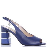 Синие босоножки Marino Fabiani на толстом каблуке, фото