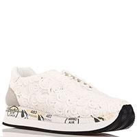 Белые кроссовки Premiata с текстильными завитками, фото