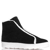 Зимние ботинки Joyks из черной замши, фото