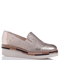 Золотистые туфли Lorenzo Mari на платформе, фото