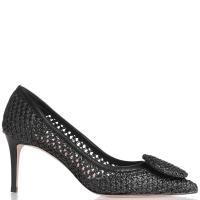 Черные туфли Chantal из плетеной кожи, фото