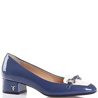 Туфли Giovanni Fabiani синего цвета с декором на носке, фото