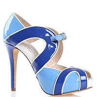 Голубые босоножки Sergio Levantesi с ремешком, фото