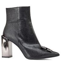 Черные ботинки Chantal с тиснением под рептилию, фото