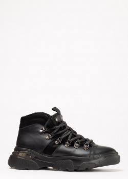 Зимние ботинки Lab Milano на шнуровке, фото