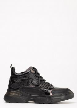 Низкие ботинки Lab Milano из черной кожи на меху, фото