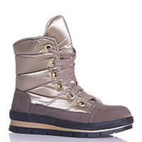Золотистые ботинки Jog Dog на толстой подошве, фото
