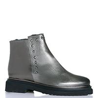 Серебристые ботинки Luca Grossi с декором-шипами, фото