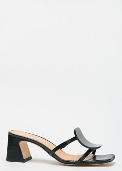 Черные мюли Chantal на среднем каблуке, фото