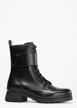 Черные ботинки Liu Jo на шнуровке, фото