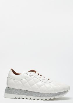 Стеганые кроссовки Sofia Baldi белого цвета, фото