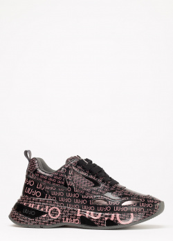 Кроссовки Liu Jo с брендовым принтом, фото