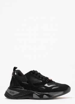 Кроссовки Liu Jo из черной замши, фото