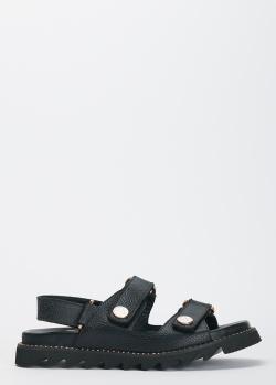 Женские сандалии Lab Milano с ремешками на липучках, фото