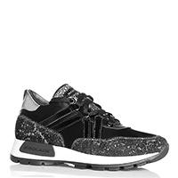 Черные кроссовки NoClaim с серебристыми вставками, фото