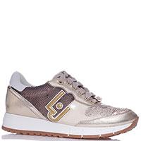 Золотистые кроссовки Liu Jo с паетками, фото