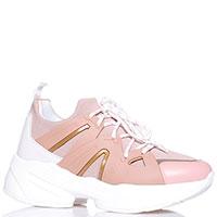 Пудровые кроссовки Liu Jo на толстой подошве, фото
