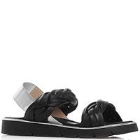 Черные сандалии Nila&Nila с серебристой окантовкой, фото