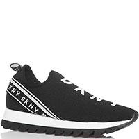 Текстильные кроссовки DKNY черного цвета, фото