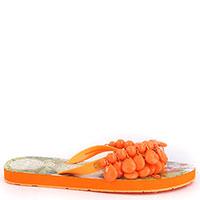 Шлепанцы L.A. Water оранжевого цвета с декором, фото