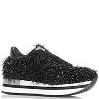Черные кроссовки L4K3 с блестящим декором, фото