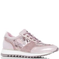 Розовые кроссовки Lab Milano с вышивкой, фото