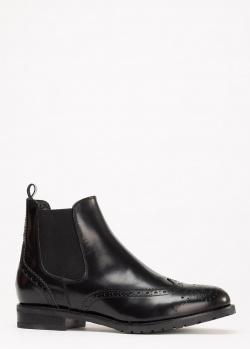 Черные ботинки Mally из кожи, фото