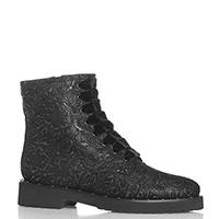 Черные ботинки Luca Grossi с бархатной шнуровкой, фото