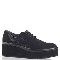 Замшевые туфли Janet Sport с декором-блестками, фото