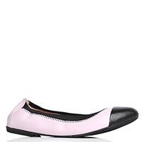 Розовые балетки Albano с черными носками, фото