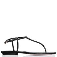 Черные сандалии Albano с декором-стразами, фото