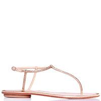 Золотистые сандалии Albano со стразами, фото
