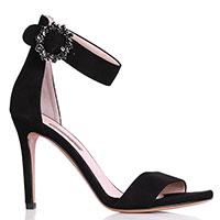 Замшевые босоножки Albano на высоком каблуке, фото