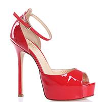 Лаковые босоножки Icone красного цвета, фото