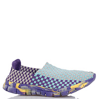 Бирюзовые кроссовки Colors Of California с фиолетовой подошвой, фото